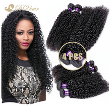 7A Unprocessed Peruvian virgin hair kinky curly 4pcs/lot BQ Virgin Hair Weaves Peruvian human hair extension