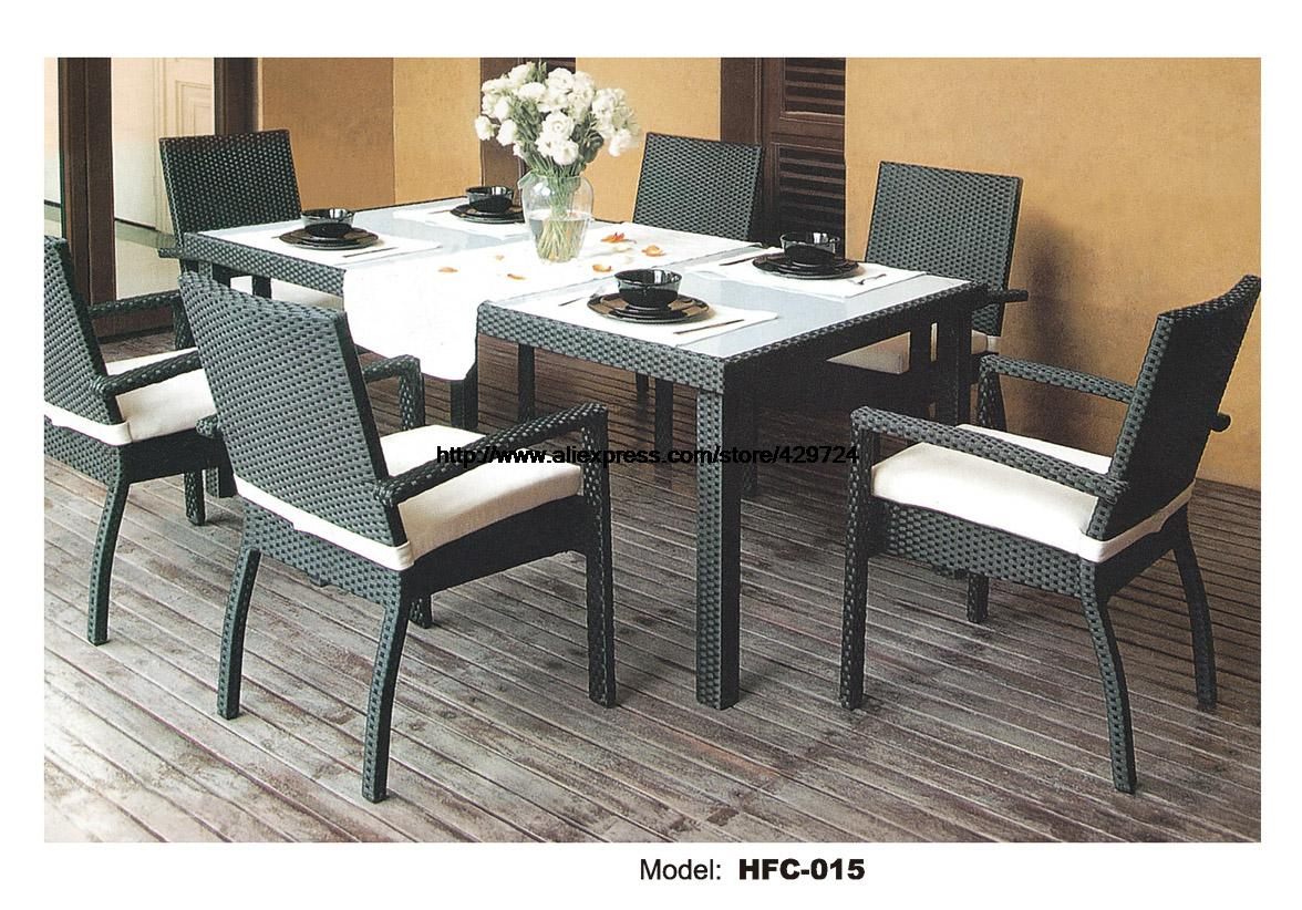 Modern Leisure Outdoor Desk Table Chairs Balcony Garden Furniture Combination Rattan Chairs Coffee Table Leisure Chairs Set