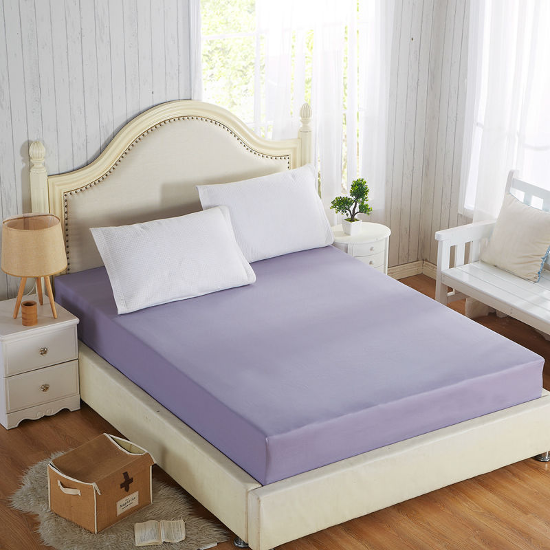 100% Cotton Solid Fitted <font><b>Sheet</b></font> With Elastic Band Bed <font><b>Sheets</b></font> Adult Mattress Cover Size 120x200/150x200/180x200/180x220/200x200cm