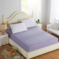 100% Cotton Solid Fitted Sheet With Elastic Band Bed Sheets Adult Mattress Cover Size 120x200/150x200/180x200/180x220/200x200cm