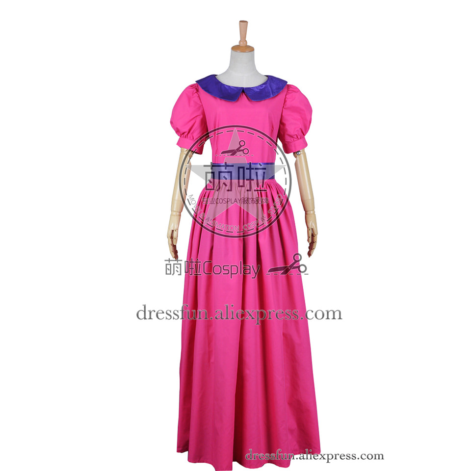 Adventure Time Cosplay Bubble Princess Princess Bubblegum Fast Shipping Costume New Pink Dress Outfits Halloween Adult Party