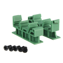 High quality 1 set of Simple PCB Circuit Board Mounting Bracket For Mounting DIN Rail Mounting  2x Adapter+5x Screws