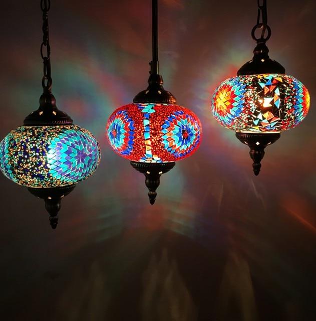 Turkish moroccan pendant light handmade mosaic stained glass turkish moroccan pendant light handmade mosaic stained glass corridor stairwell cafe restaurant hanging light lamp in pendant lights from lights lighting aloadofball Images