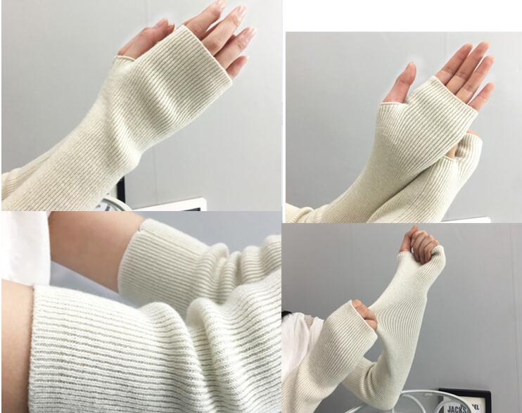 Longer Cashmere Arm Glove Women Gloves Hot Sale Long Desige Woolen Warm Spring Antumn Winter Lady Sleeve