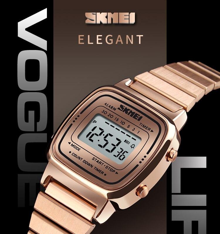 80b550103 Compre SKMEI Mulheres Relógios De Moda Digital De Luxo Senhoras ...