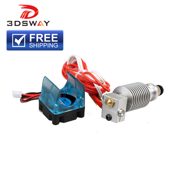 Free Shipping 3DSWAY 3D Printer Parts e3d V6 Hotend Kit J-head HotEnd with Cooling Fan Bracket for 0.4mm/1.75mm Bowden Extruder 3d printer parts cyclops 2 in 1 out 2 colors hotend 0 4 1 75mm 12v 24v fan bowden with titan bulldog extruder multi color nozzle