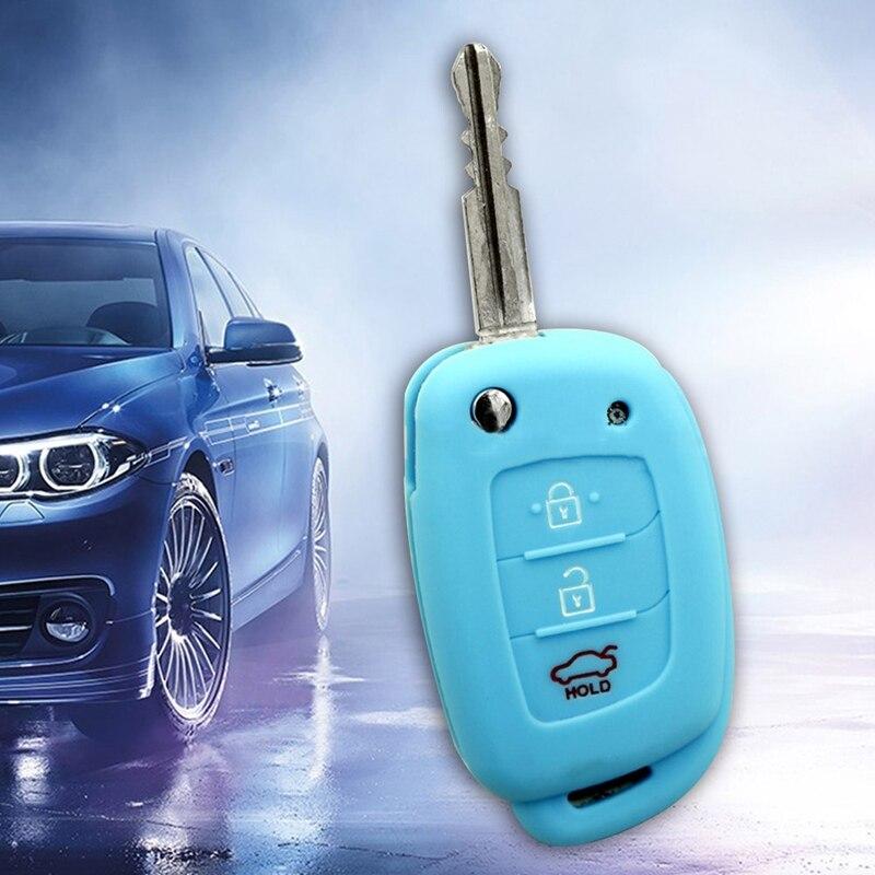 3 кнопки силиконовый автомобильный чехол для дистанционного ключа Защитная крышка для hyundai Creta I10 I20 Tucson Elantra