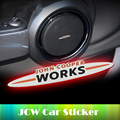 Mini John Cooper Works JCW для Mini Cooper S One земляк Рулевого Колеса Автомобиля Стикер Динамик Стикер Ремонт Эмблема Автомобиля укладки