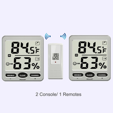 Wholesale prices 2pcs LCD Display Digital 433MHz Wireless 8-Channel Thermo-hygrometer + 1 Remote Sensors Thermometer Hygrometer Weather Station