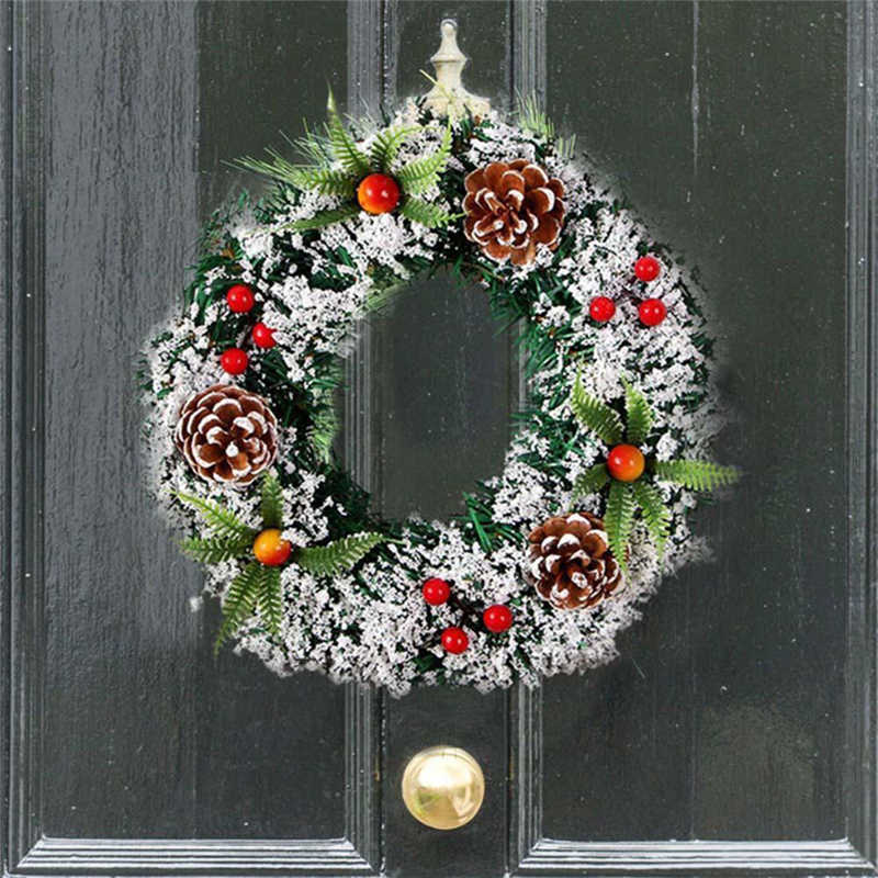 2018 handmade Wall Hanging Christmas Wreath Decoration For Xmas Party Door Garland Ornament Perfect window decoration #2n7 (5)