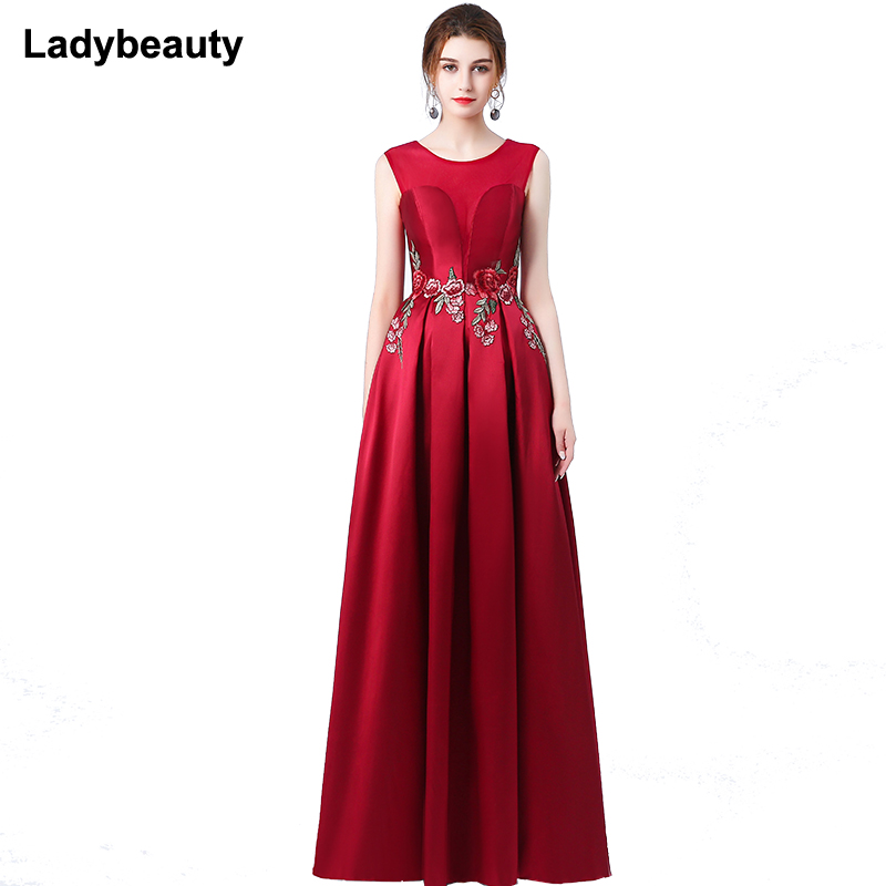 New 2018 elegant party   dress     evening     dresses   Vestido de Festa appliques gown see through opening back free shipping