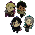 2017 Hot Yuri on ice! Anime Victor Nikiforov Yuri Katsuki Figure Dolls Toy Plastic Keychain Pendant Keyrings Kids Gift 4pcs/set