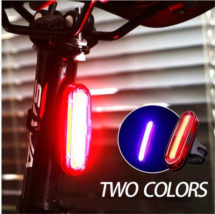 Roda para cima USB Recarregável Bicicleta Luz Branca Led Vermelho Sela Traseira Lanterna Traseira Luzes Da Cauda de Bicicleta de Montanha Lâmpada de Bicicleta À Prova D' Água