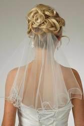 В наличии белый и слоновой кости Карандаш Край Один Слои Тюль простой Свадебный свадебная фата с бесплатным Comb