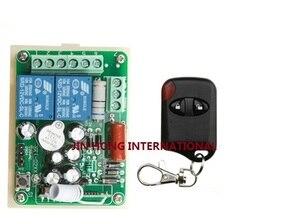 Беспроводной пульт дистанционного управления AC 220 V-2CH RF, передатчик 1 шт. с 2 кнопками + приемник 1 шт., бесплатная доставка