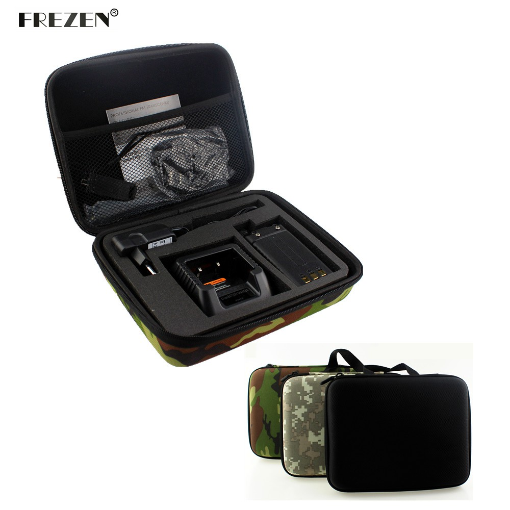 Two Way Radio Case Carring Handtas Opslag Voor BAOFENG UV-5R UV-5RE + TYT TH-F8 Walkie Talkie Lancering Jachttas Camouflage Radio