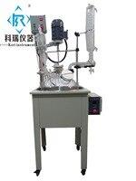 Ex-prova de Camada Única De Vidro Reactor 50L W condensador W porta De Vácuo W banho de óleo de aquecimento de água para a mistura  mexendo