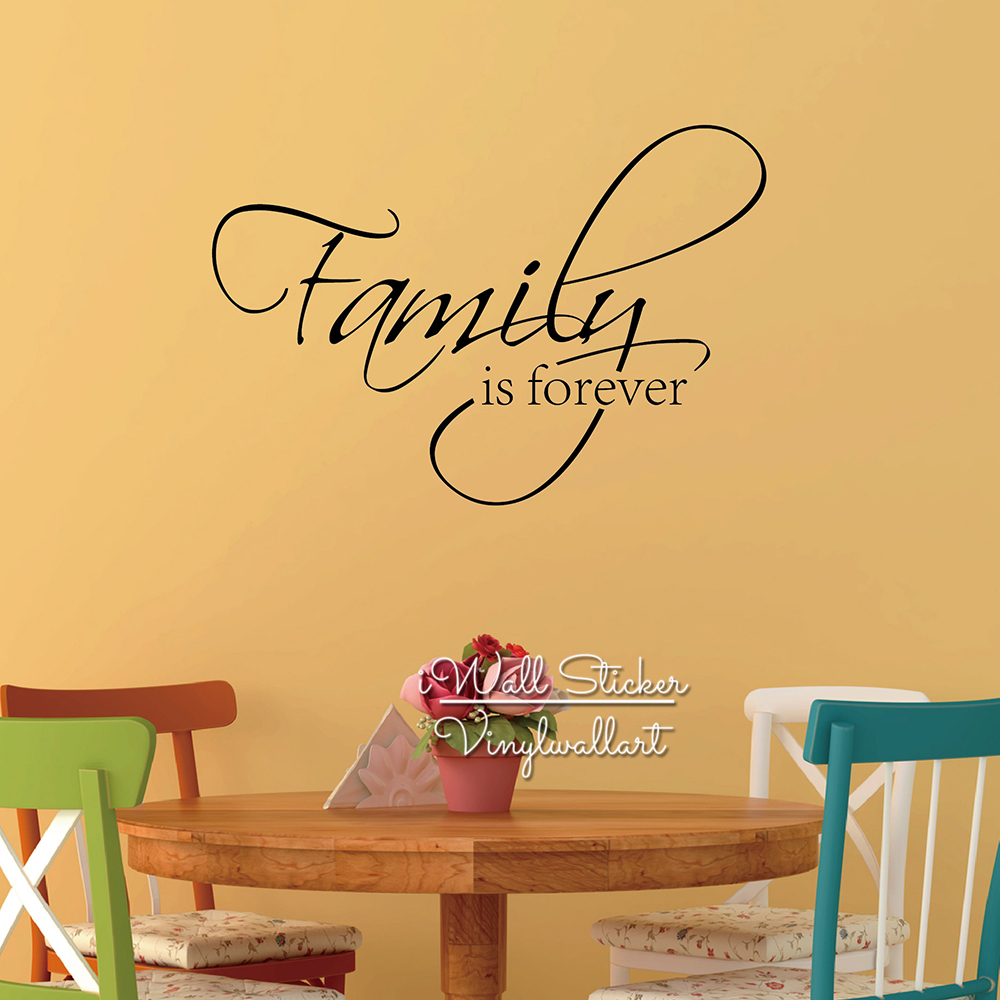 Family Is Forever Quote Wall Sticker Home Quote Wall Decal DIY High ...