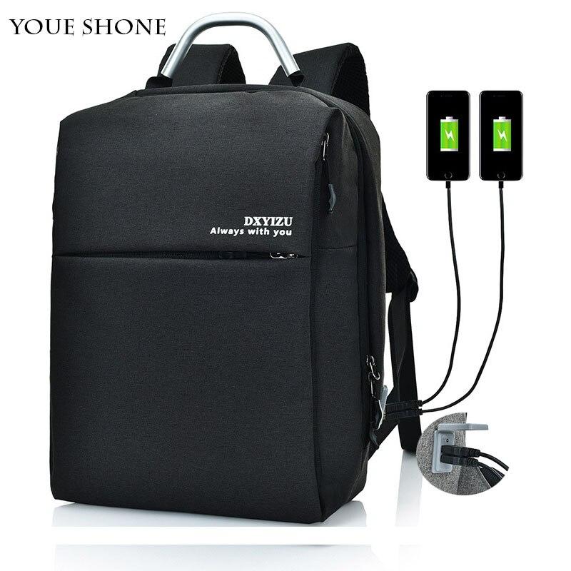 double usb charge anti theft backpack men women bag male&female school bag for teenage boy girl backpack Laptop Backpack