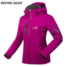 ReFire Gear Winter Thermal Camping Fleece Jacket Women Windproof Waterproof Warm Hiking Jacket Female Outdoor Windbreaker Jacket недорого