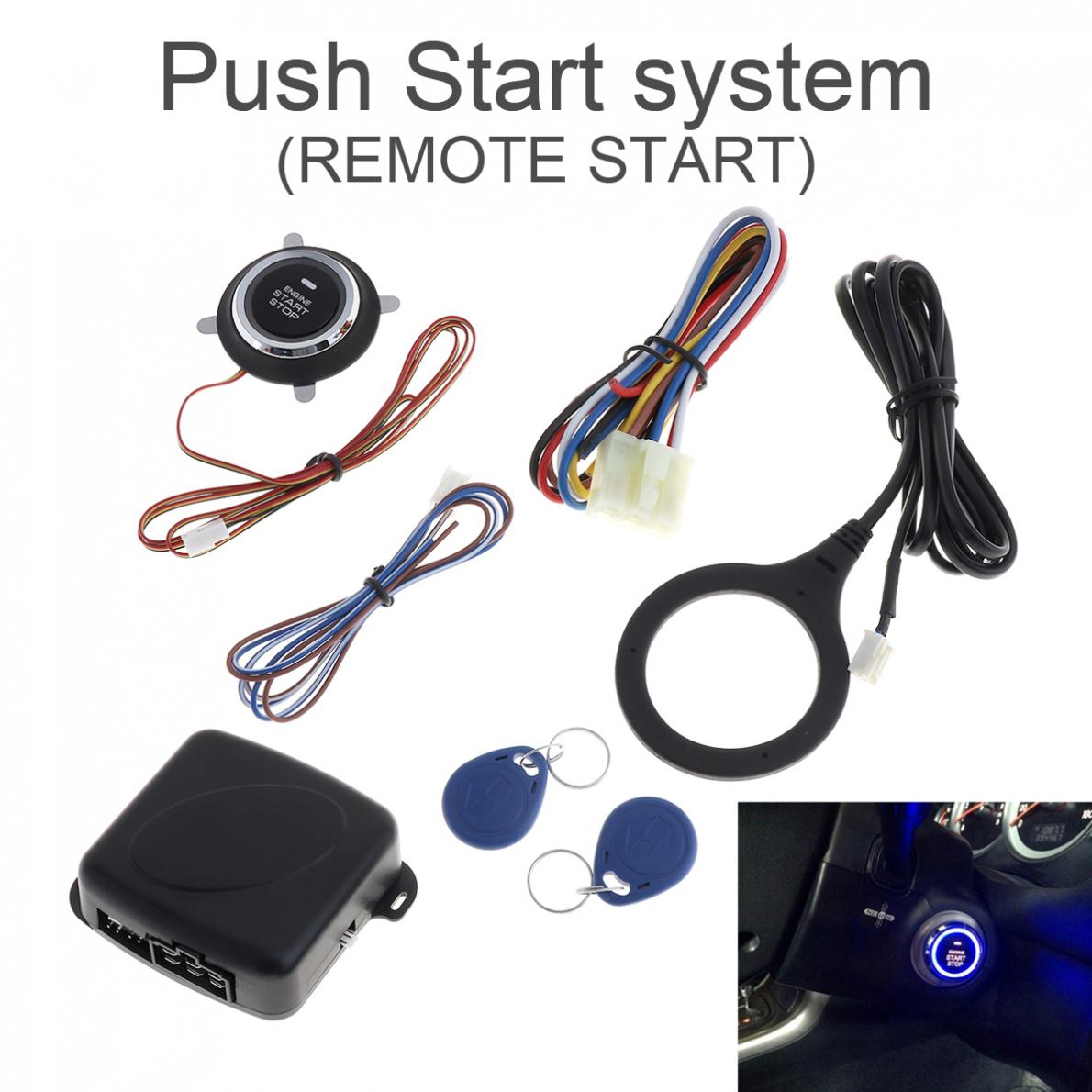 Universal DC12V Smart Auto RFID Car Alarm System and Warded lock Anti theft Push Engine Start