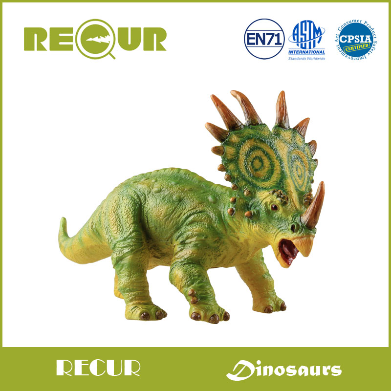 где купить  Recur Toys Original Design Styracosaurus Dinosaur Model Delicate Hand Painted Soft PVC Animal Figures Toy Collection Xmas Gift  по лучшей цене