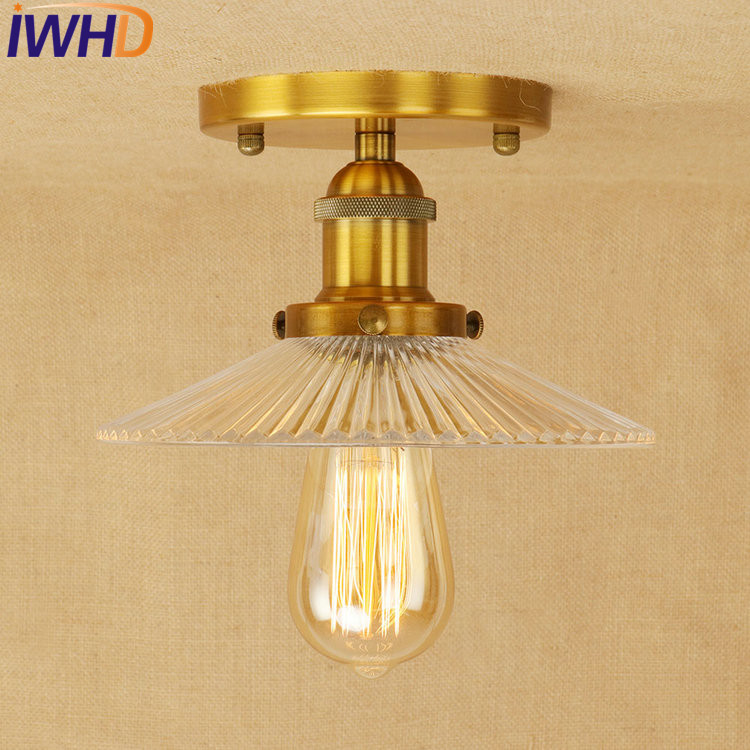 IWHD Loft Style Edison Industrial Ceiling Lamps Antique Iron Glass Vintage Ceiling Light Fixtures Home Lighting Luminaria Teto retro loft style mirror glass iron vintage ceiling light fixtures edison industrial ceiling lamp antique lights home lighting