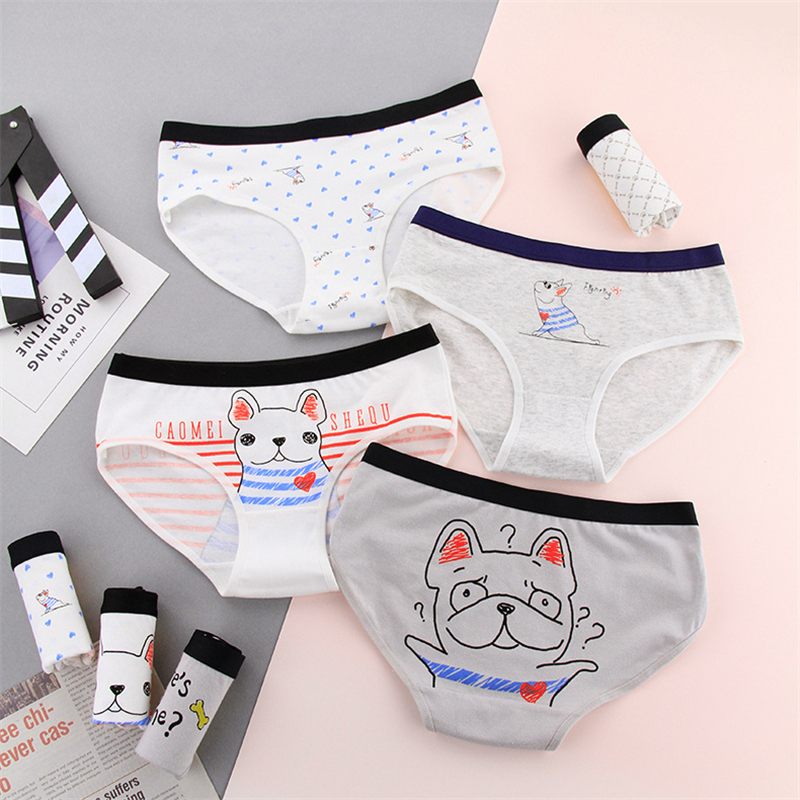 2019 New Cotton   panties   for women cartoon dog print underwear girl briefs female casual sexy lingerie underpants ladies   panty