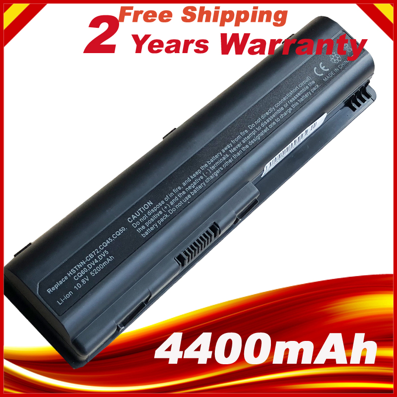 Laptop Battery for HP Pavilion dv4 DV5 DV6 CQ60 CQ70 G50 G60 G60T G61 G70 G71 484170-001 EV06 HSTNN-IB72 HSTNN-UB72 HSTNN-UB73 aqjg 18 5v 3 5a 65w laptop notebook power charger adapter for hp pavilion g6 g56 cq60 dv6 g50 g60 g61 g62 g70 g71 g72