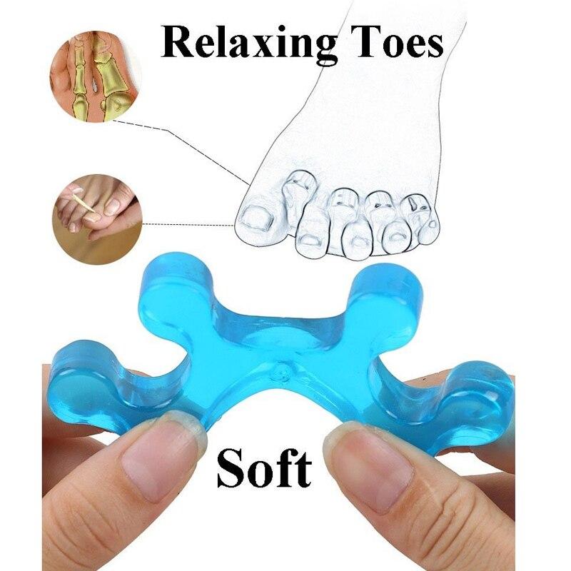1Pair Toe Separators Gel Toe Separator & Toe Stretcher for Yoga Walking and Dancing for Women and Men 2