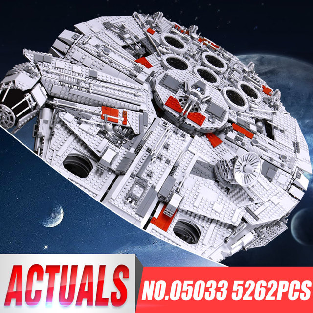 LEPIN 05033 WARS 5265Pcs Star Ultimate 10179 Collector's Millennium Toys Falcon Model Building Kit Blocks Bricks Children Toy