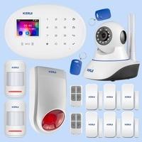 KERUI домашняя система охранной сигнализации инфракрасная Индукционная дверь движения магнитное Индукционное устройство Wifi камера сигнализ