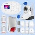 KERUI sistema de alarma de seguridad para el hogar Puerta de inducción de movimiento infrarrojo Dispositivo de inducción magnético Wifi Cámara alarma Flash Kit de combinación
