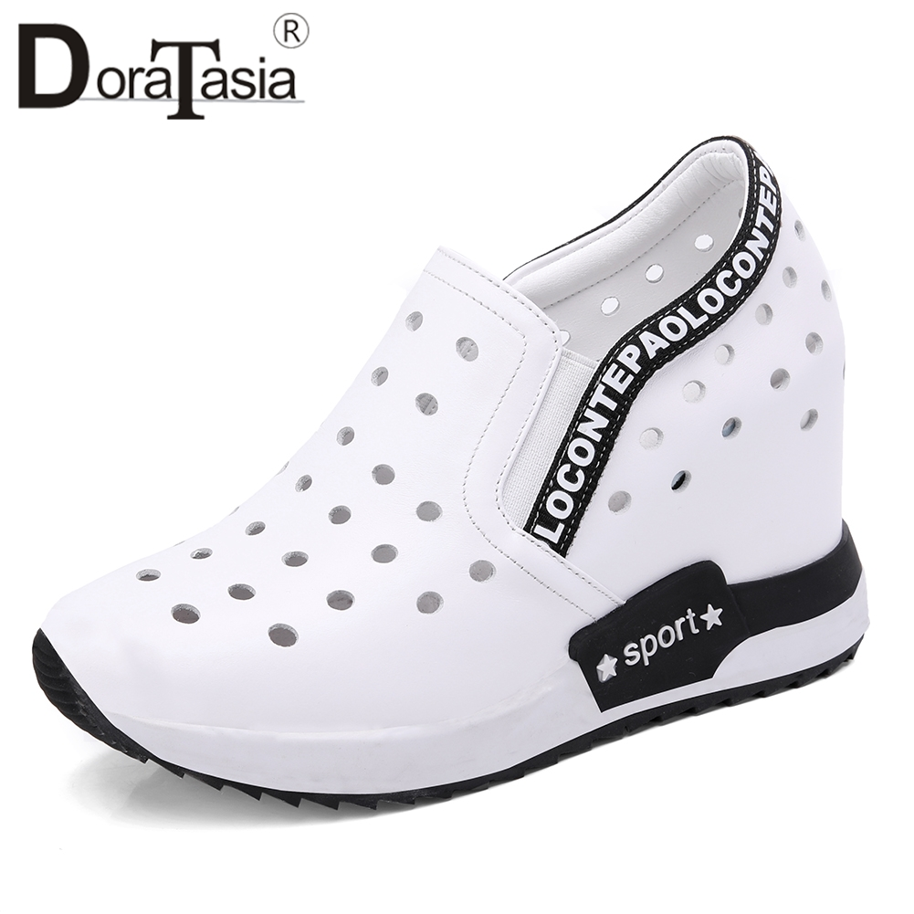 DORATASIA New Comfort Genuine Leather Shoes Sneakers Women 2019 Summer Loafers Women High Shoes Woman Height Increasing 32-40DORATASIA New Comfort Genuine Leather Shoes Sneakers Women 2019 Summer Loafers Women High Shoes Woman Height Increasing 32-40
