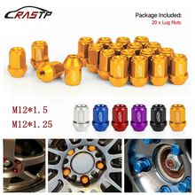 RASTP - New Arrived Colorful 20PCS M12x1.5 Racing Forged 7075-T6 Lightweight Wheel Lug Nuts 35MM Car Accessories RS-LN045