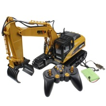 Large  remote control Excavator Engineer car 2.4G 16CH 46cm 360 degree rotate RC electric machineshop truck toy with sound light