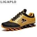 Mens entrenadores Hombres Zapatos de marca de Encaje de primavera verano zapatos de moda con zapatos respirables del deporte planas plataforma calzado casual zapatos para hombre