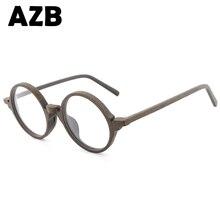 AZB2017 new retro wood sunglasses men's bamboo sunglasses ladies brand design sunglasses optical frames flat glass glasses