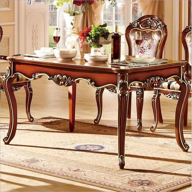 antique style italian dining table 100 solid wood italy style luxury dining table set 10298 in. Black Bedroom Furniture Sets. Home Design Ideas