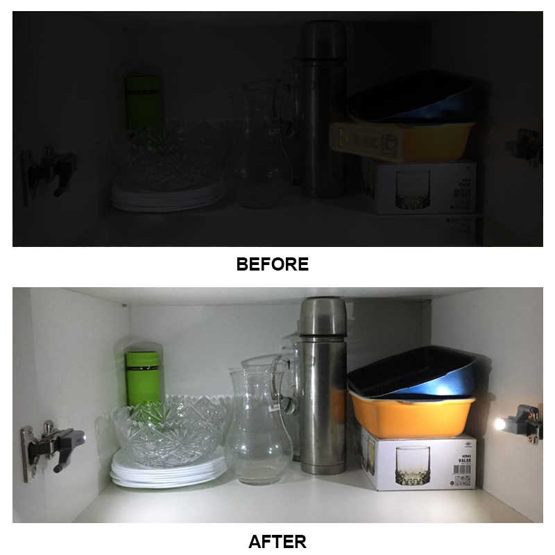 Kak Universal Engsel Lampu Dapur Kamar Tidur Ruang Tamu Ruang Lemari Kabinet Lemari Pakaian 0.25W Dipimpin Batin Sensor Cahaya Perangkat Perabot