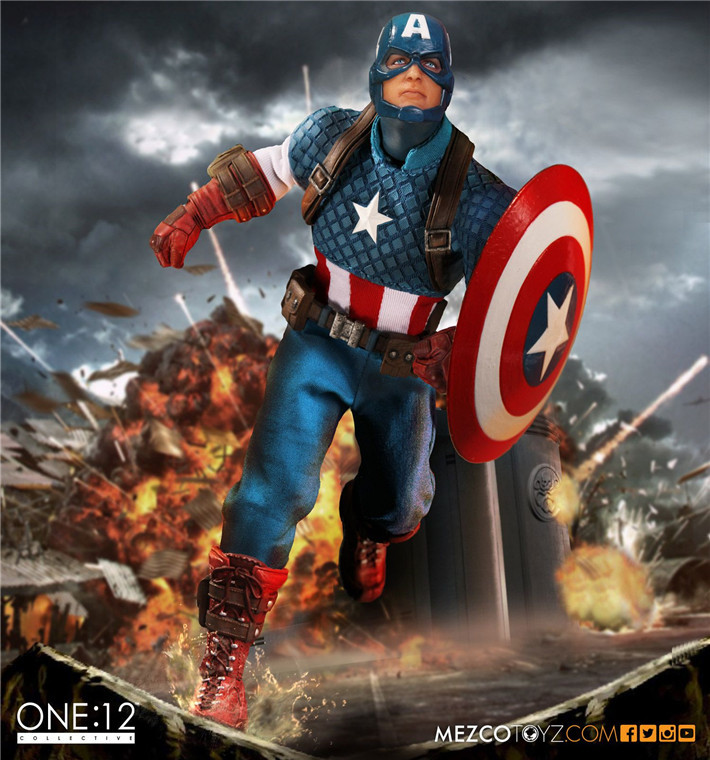 MEZCO Marvel Captain America Version One:12 Collective High Quality BJD Action Figure Toys цена и фото
