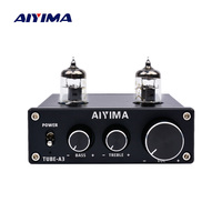 AIYIMA 6J1 Tube Amplifier Bile Preamplifier HIFI Preamp Treble Bass Adjustment Audio Preamplifier DC12V For Amplifier Speaker