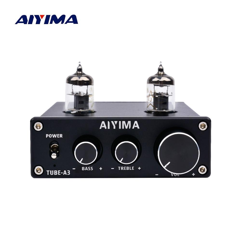 AIYIMA 6J1 amplificador de tubo de bilis preamplificador alta fidelidad preamplificador agudos bajo ajuste de Audio preamplificador DC12V amplificador altavoz