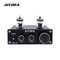 AIYIMA 6J1 Tube Amplifier Bile Preamplifier HIFI Preamp Treble Bass Adjustment Audio Preamplifier DC12V For Amplifier Speaker