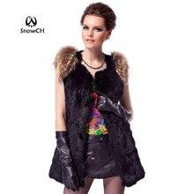 Натуральный кроличий мех жилет с мехом енота для женщин пальто с мехом зимняя меховая куртка на заказ большие размеры F76