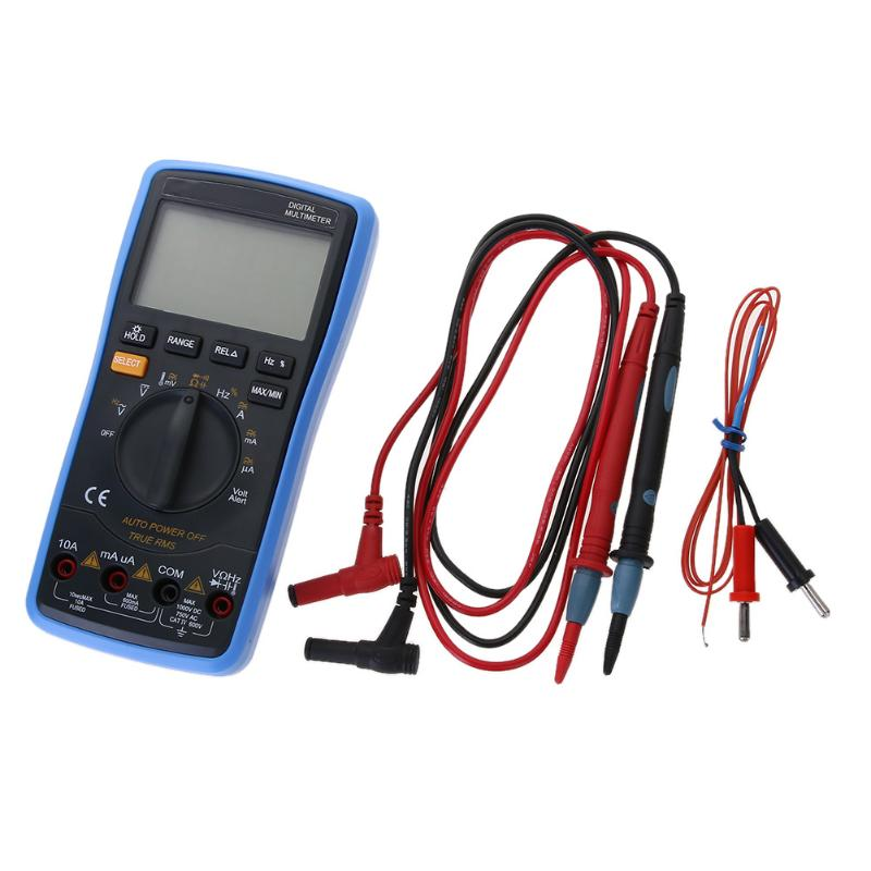 DT-17N Digital Univesal Auto LCD Multimeter Backlight AC/DC Ohm Voltage Ammeter Tester Frequency Capacitor Tester excel dt9205a 3 lcd digital multimeter black orange 1 x 6f22