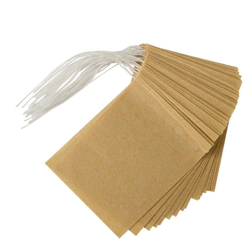 100Pcs Disposable Tea Bags Empty Scented Safe Tea Bag With String Heal Seal Filter Paper Bag For Herb Loose Tea