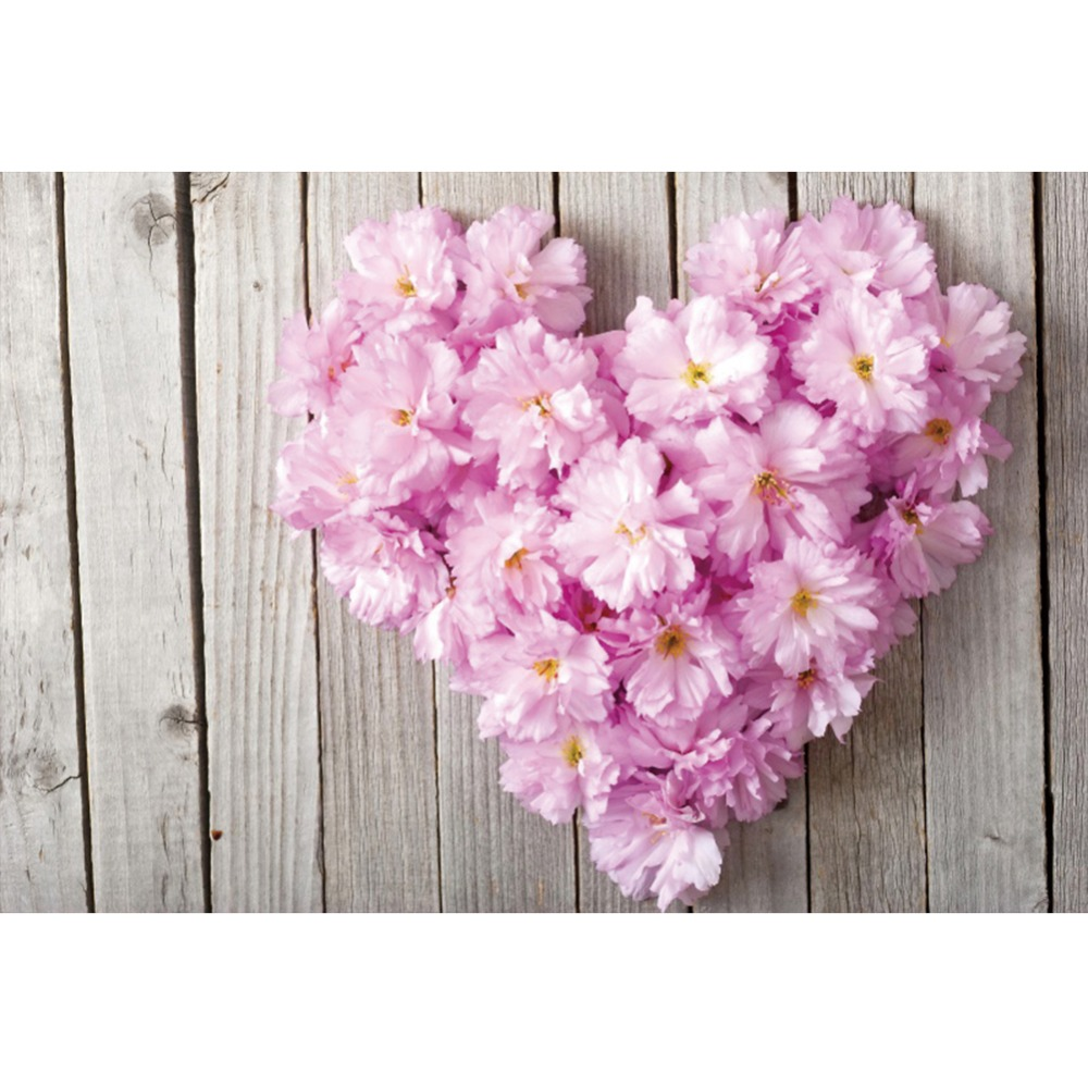 Laeacco Flowers Love Hearts Wooden Boards Wall Celebration Scene Photography Backgrounds Photographic Backdrops For Photo Studio