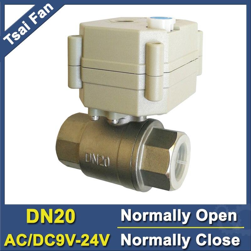 """BSP/NPT 3/4 """"ze stali nierdzewnej elektryczne normalnie otwarty/zamknąć zawór ze sterowaniem ręcznym DC/AC9V 24V 2/5 przewody TF20 S2 B pełne portu w Zawory od Majsterkowanie na AliExpress - 11.11_Double 11Singles' Day 1"""