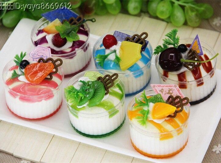 6pcslot Home Decoration Artificial Fake Decor Ice Cream Lifelike